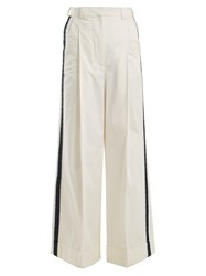 Zeus Dione Aelous High Rise Trousers Ivory