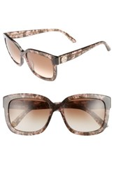 Juicy Couture Women's Shades Of 55Mm Square Sunglasses Havana Light Pink