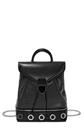 Alexander Mcqueen 'Small Legend' Eyelet Leather Backpack Black
