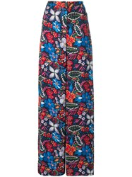 Essentiel Antwerp Slara Patterned Trousers Blue