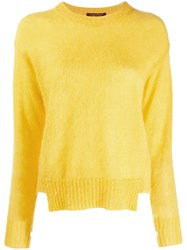 Luisa Cerano Cut Hem Fuzzy Jumper Yellow