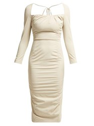 Altuzarra Colonia Stretch Twill Dress Ivory