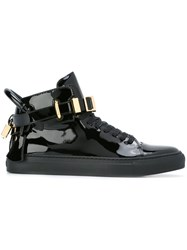 Buscemi Buckled Hi Top Sneakers Black