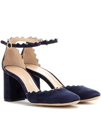 Chloe Suede Pumps Blue