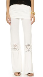 Nightcap Clothing Crochet Beach Pants White