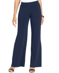 Jm Collection Petite Pull On Wide Leg Pants Only At Macy's Intrepid Blue