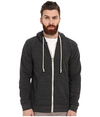 Threads 4 Thought Triblend Zip Front Hoodie Heather Black Men's Sweatshirt