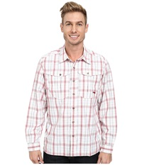 Mountain Khakis Equatorial L S Shirt Engine Red Plaid Men's Long Sleeve Button Up