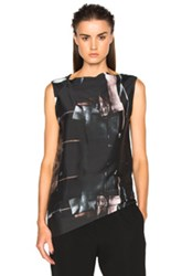 Ann Demeulemeester Asymmetric Tank In Black Abstract Black Abstract
