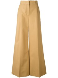 Msgm Flared Trousers Brown