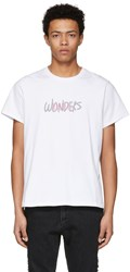 Wonders Ssense Exclusive White Reflective Logo T Shirt