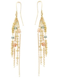 Natasha Collis Sapphire Waterfall Earrings Metallic