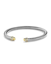 Cable Classics Bracelet With Gold Domes And Diamonds David Yurman