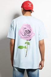 Forever 21 Human Condition Rose Tee Aqua Pink