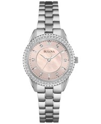 Bulova Women's Stainless Steel Bracelet Watch 30Mm 96L218 Silver
