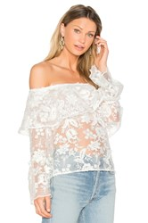 Backstage The Garden Delight Top White