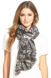 Women's Badgley Mischka Lace Print Merino Wool Scarf