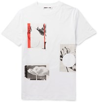 Mcq By Alexander Mcqueen Slim Fit Printed Cotton Jersey T Shirt White