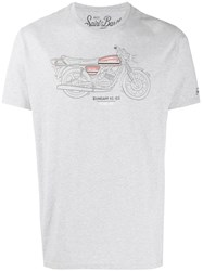 Mc2 Saint Barth Motor Print T Shirt Grey