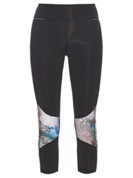 Alala Graphic Print Performance Leggings Black Multi