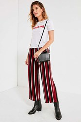 Urban Outfitters Uo Ant Knit High Rise Cropped Pant Red Multi