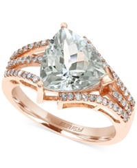 Effy Collection Effy Aquamarine 2 7 8 C.T. T.W. And Diamond 1 4 Ct. T.W. Ring In 14K Rose Gold