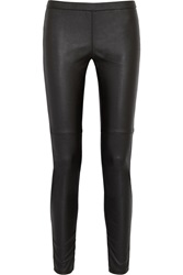 Michael Michael Kors Faux Stretch Leather Leggings Style Pants Black