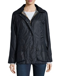 Barbour Beadnell Waxed Cotton Jacket W Zip In Liner Navy
