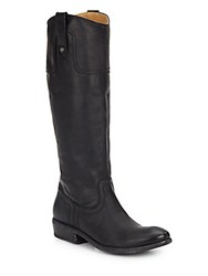 Frye Carson Leather Riding Boots Black