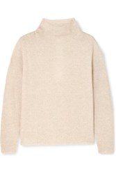 Max Mara Leisure Rib Knit Sweater Beige