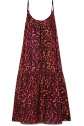 Stella Mccartney Leopard Print Cotton And Silk Blend Maxi Dress Leopard Print