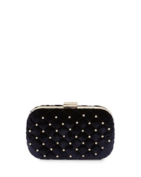 Class Roberto Cavalli Elisabeth Quilted Velvet Clutch Bag Dark Blue