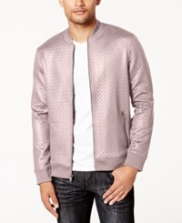 Inc International Concepts Men's Basket Weave Bomber Jacket Created For Macy's Pale Mauve