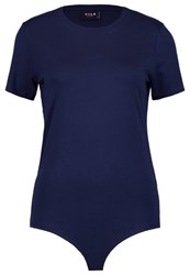 Vila Viofficiel Basic Tshirt Total Eclipse Dark Blue