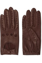 Agnelle Faye Leather Gloves Tan