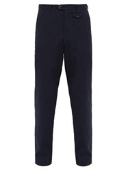 Oliver Spencer Theobald Ribbed Cotton Trousers Navy