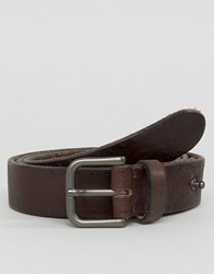 Selected Homme Belt In Leather Demitasse Brown