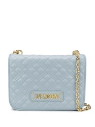 Love Moschino Quilted Logo Plaque Shoulder Bag 60