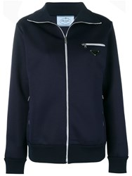 Prada Zipped Track Jacket Blue