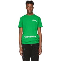 Off White Green College T Shirt