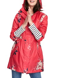 Joules Packaway Waterproof Rain Coat Raspberry