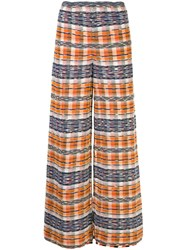 M Missoni Check Print Wide Leg Trousers 60