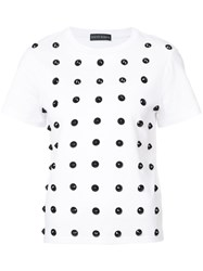 David Koma Studded T Shirt White