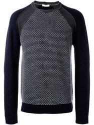 Paolo Pecora Patterned Panel Jumper Blue