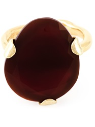 Wouters And Hendrix Red Agate Ring Metallic