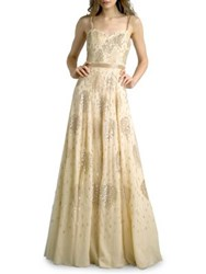 Basix Ii Beaded Sweetheart Strap Gown Gold
