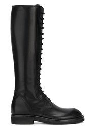 Ann Demeulemeester Lace Up Combat Boots Black