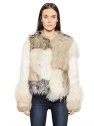 Urbancode Patchwork Faux Fur Short Jacket
