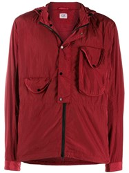 C.P. Company Cp Zipped Hooded Jacket Red