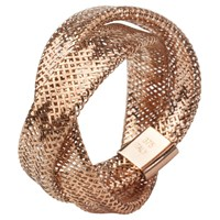 A B Davis 9Ct Twist Mesh Ring Rose Gold